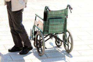 変形性膝関節症,車椅子